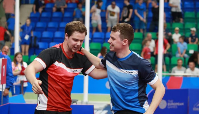 Minsk - BELARUSIA - Men's Singles  - Semi-Finals , 2019 European Games, June 26 2019 Photo by Rémy Gros (ITTF)